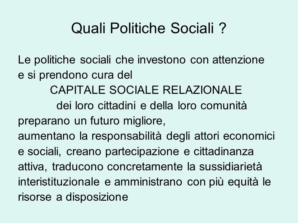 Quali Politiche Sociali