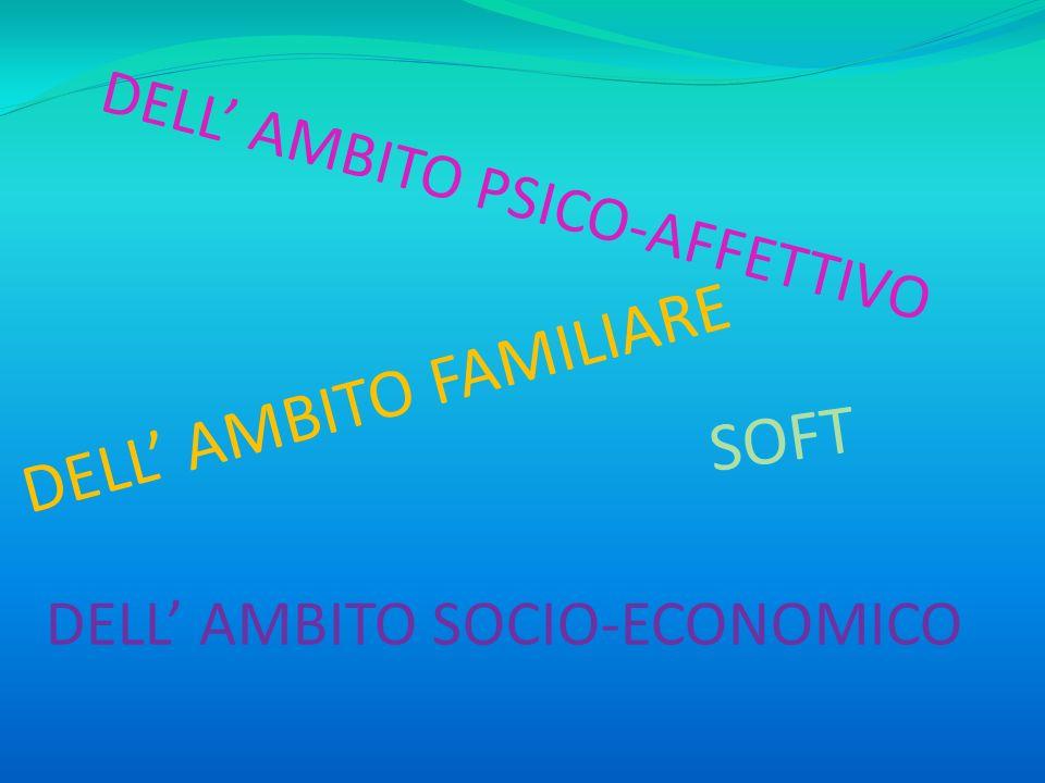 DELL' AMBITO PSICO-AFFETTIVO