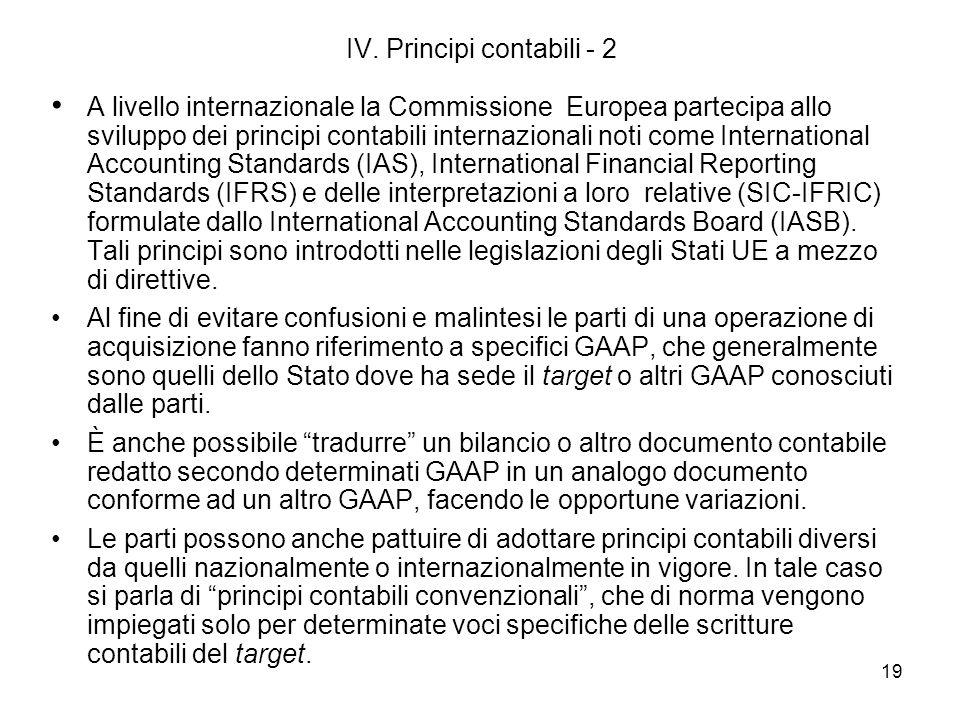 IV. Principi contabili - 2
