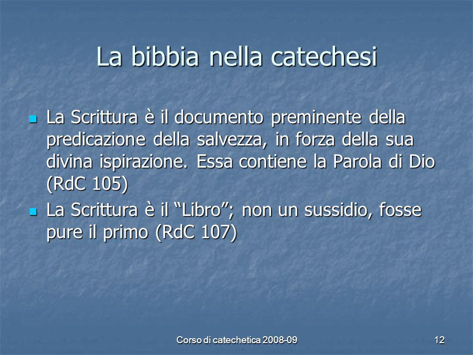 La bibbia nella catechesi