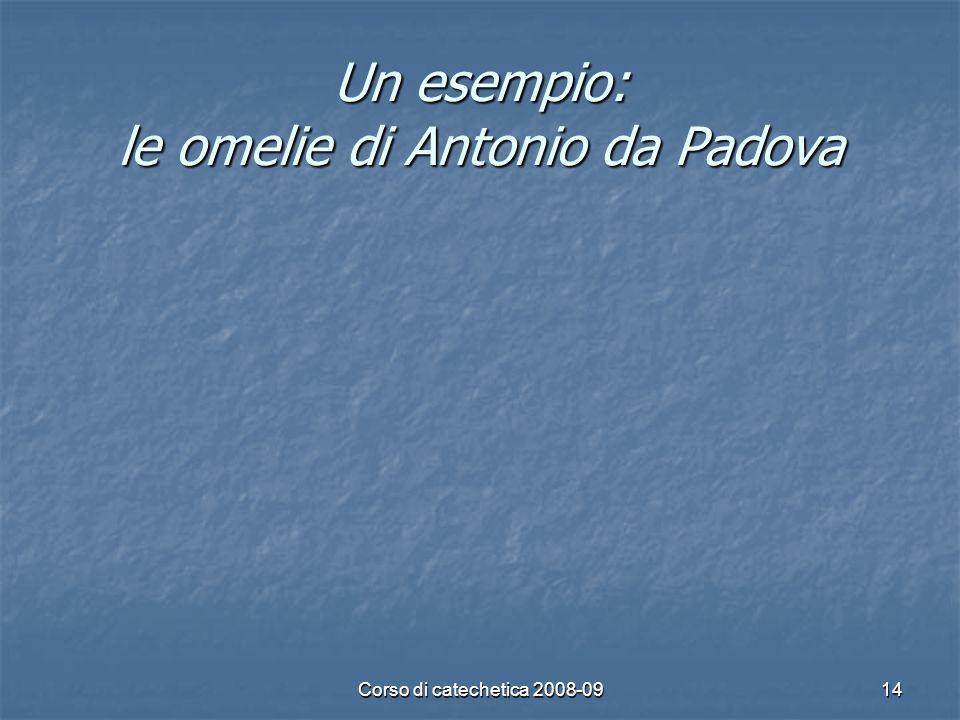 Un esempio: le omelie di Antonio da Padova