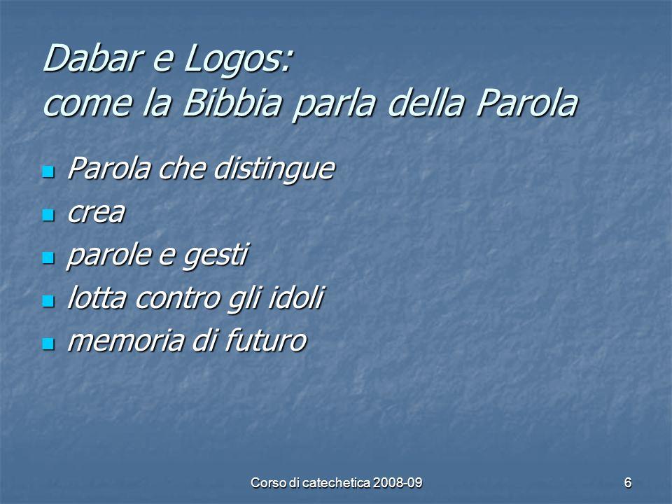 Dabar e Logos: come la Bibbia parla della Parola