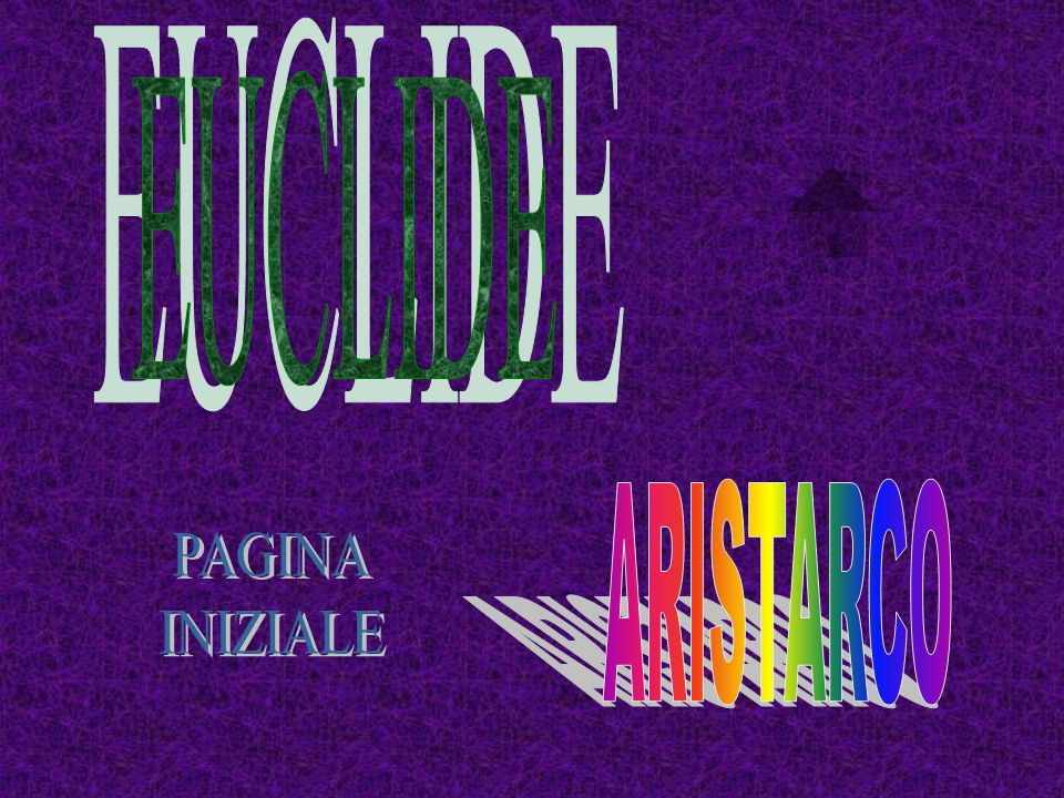 EUCLIDE ARISTARCO PAGINA INIZIALE