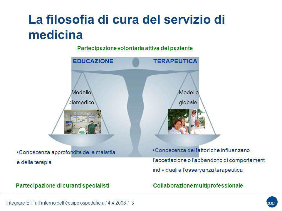 La filosofia di cura del servizio di medicina