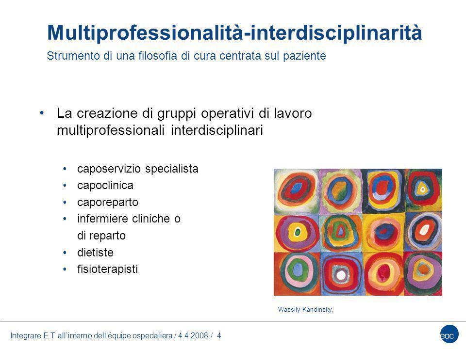 Multiprofessionalità-interdisciplinarità Strumento di una filosofia di cura centrata sul paziente