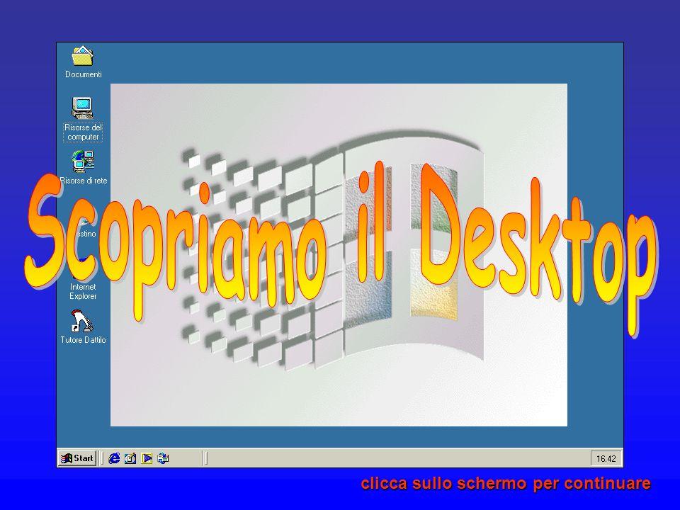 Scopriamo il Desktop clicca sullo schermo per continuare