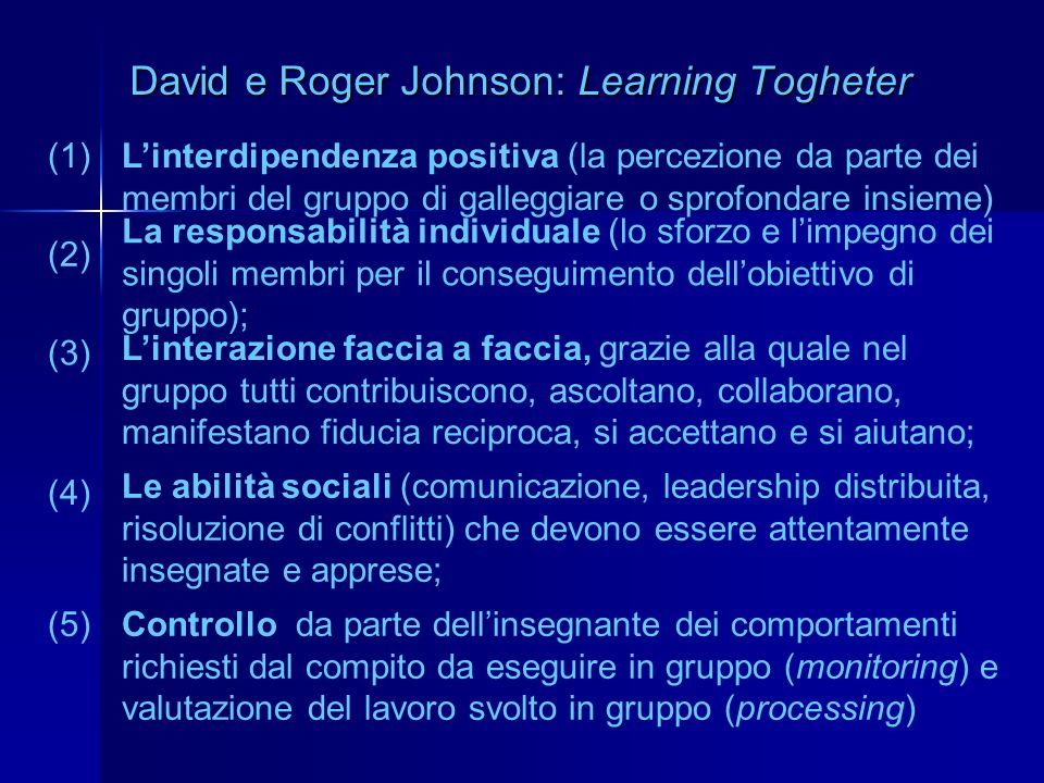 David e Roger Johnson: Learning Togheter