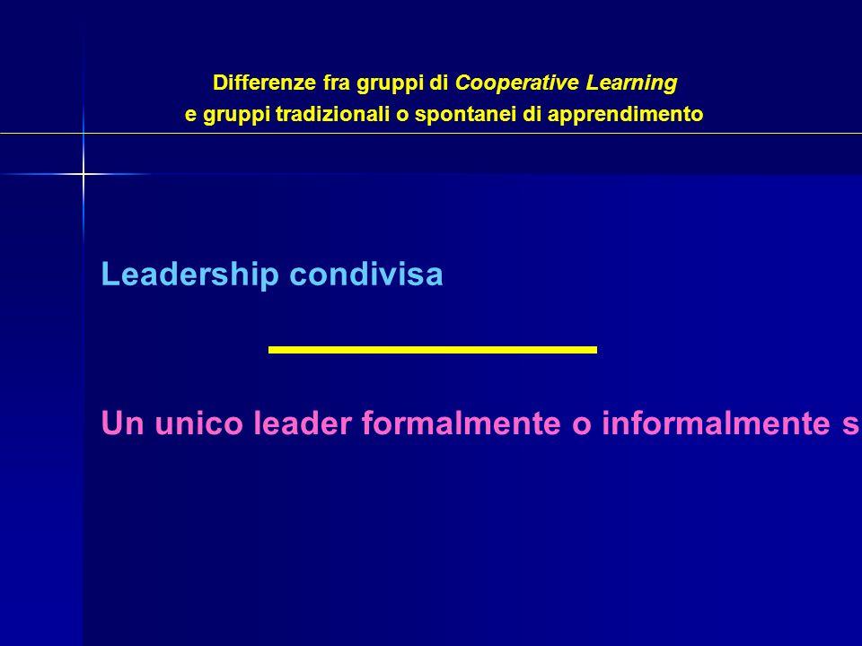 Un unico leader formalmente o informalmente scelto