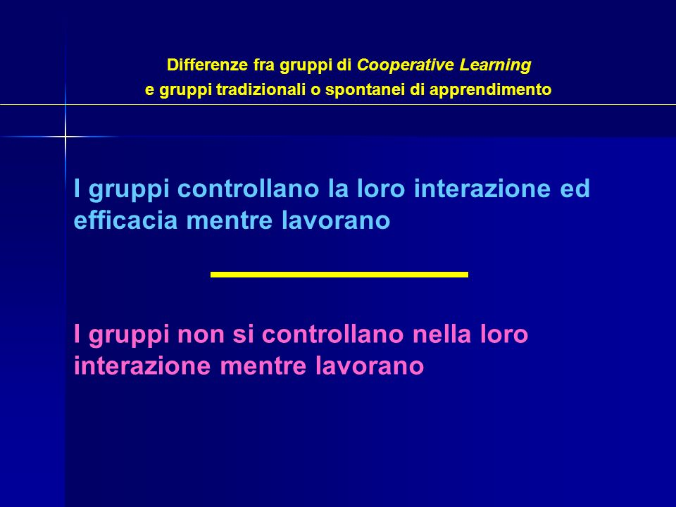 I gruppi controllano la loro interazione ed efficacia mentre lavorano