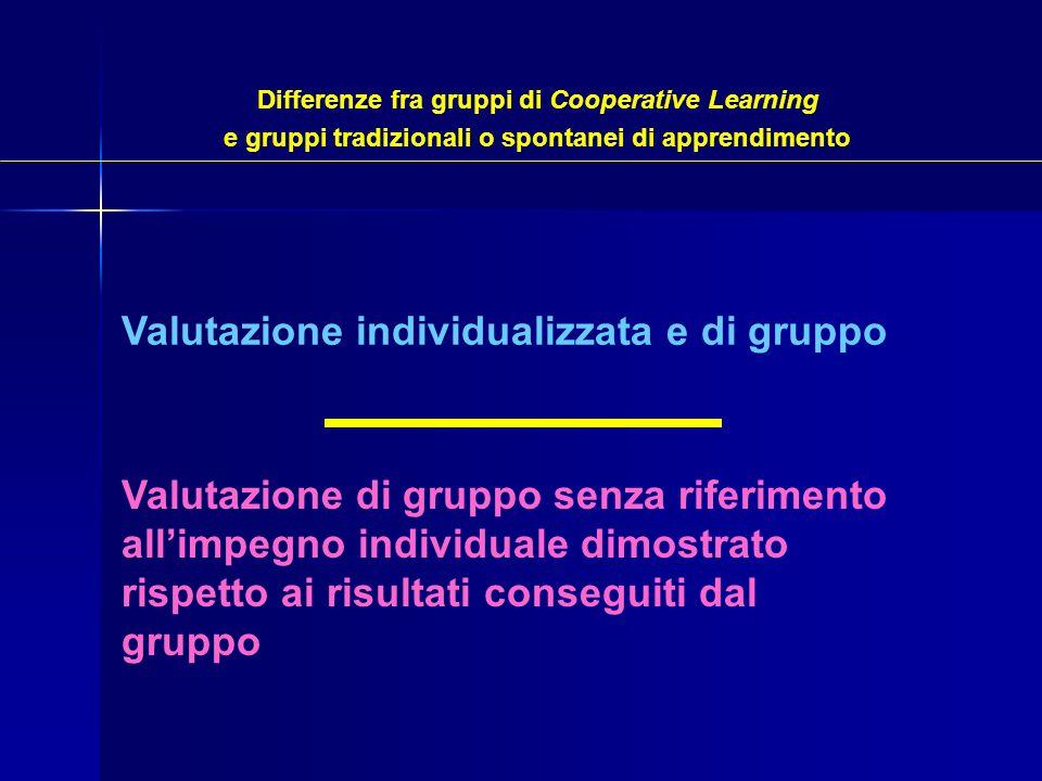 Valutazione individualizzata e di gruppo