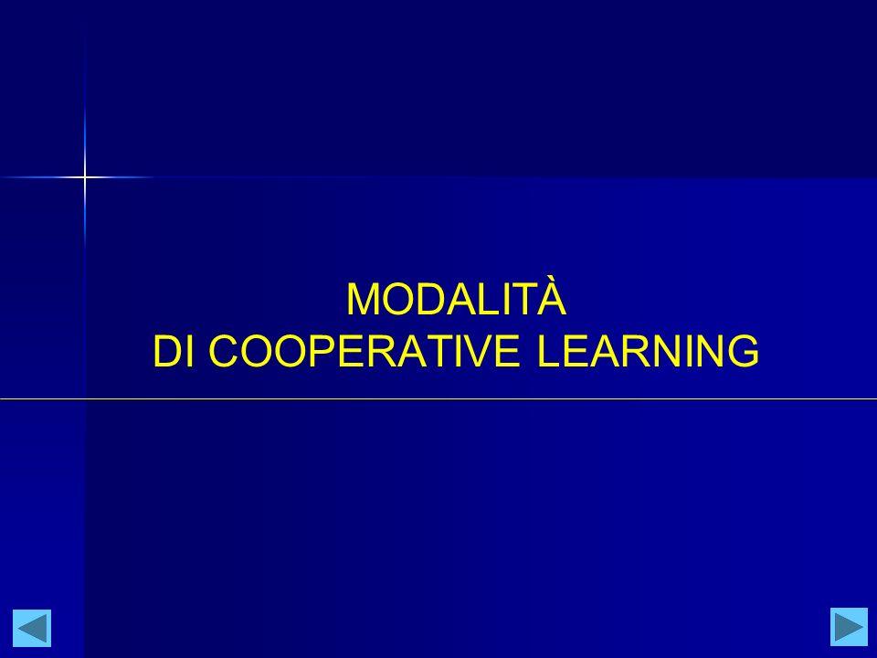 MODALITÀ DI COOPERATIVE LEARNING
