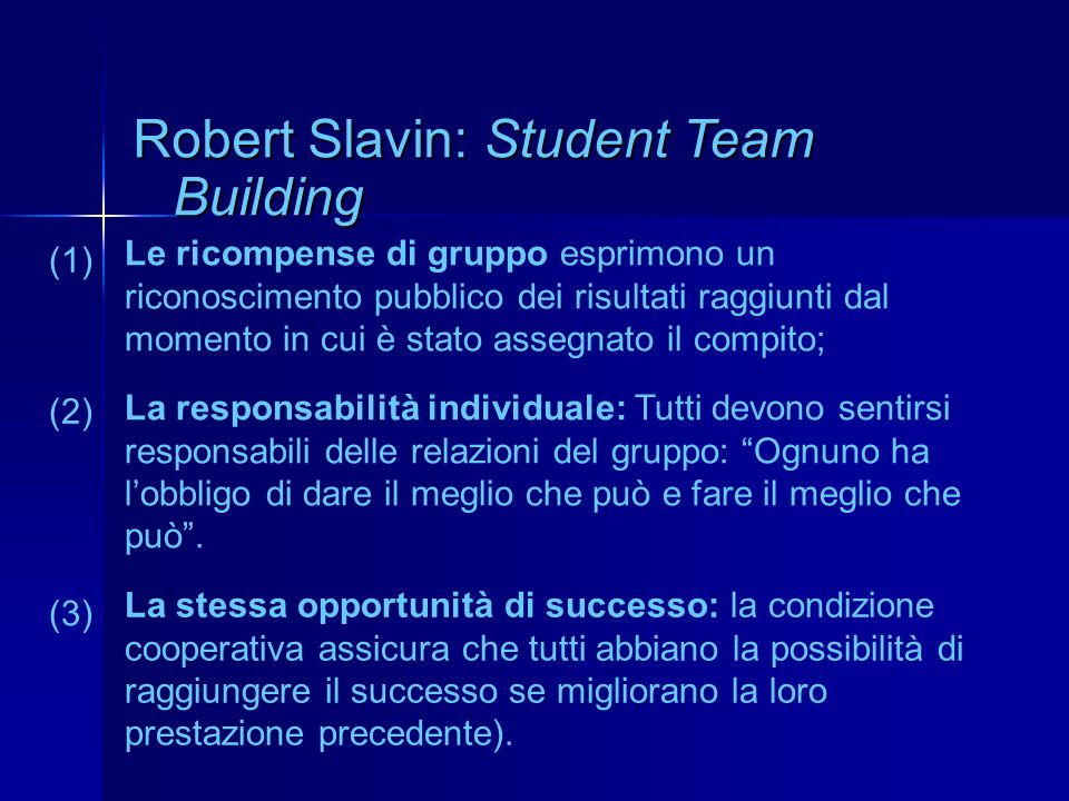 Robert Slavin: Student Team Building