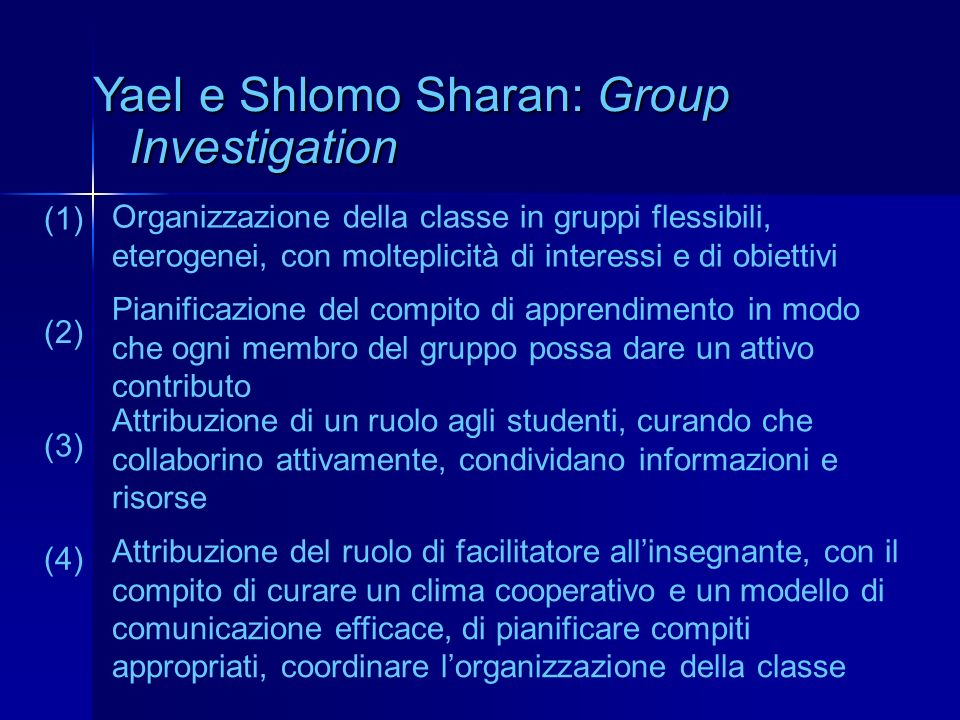 Yael e Shlomo Sharan: Group Investigation