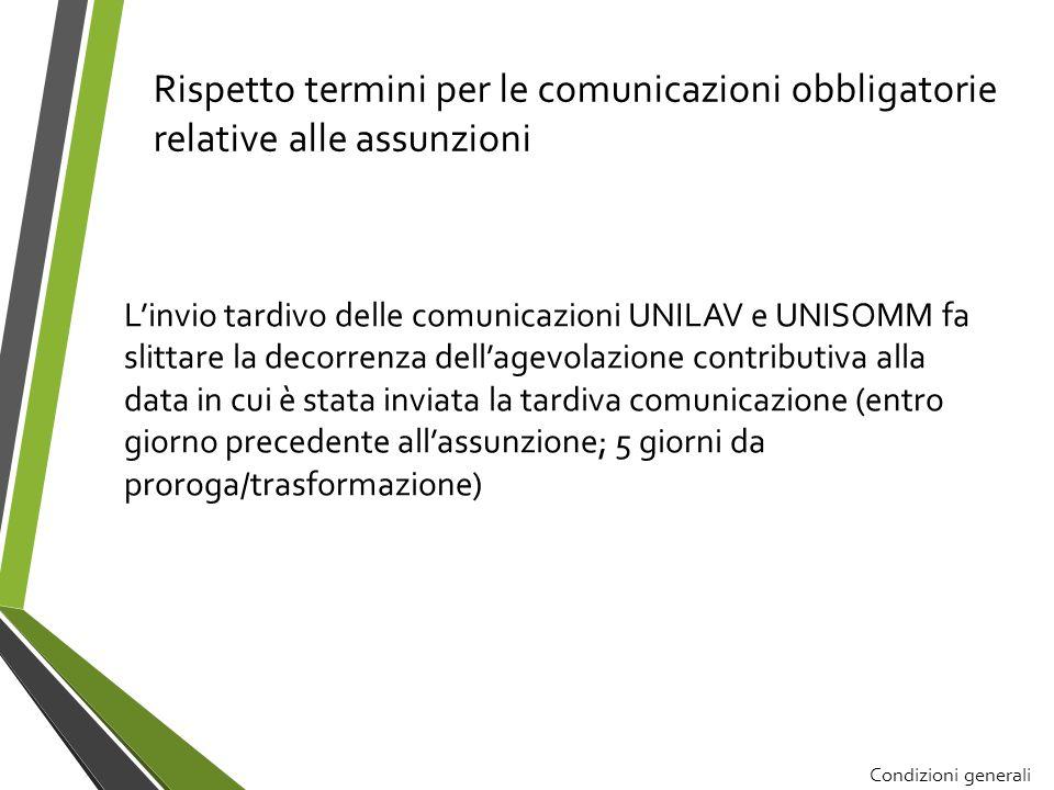 Rispetto termini per le comunicazioni obbligatorie relative alle assunzioni