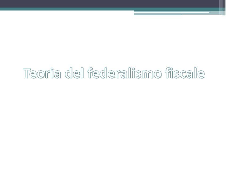 Teoria del federalismo fiscale