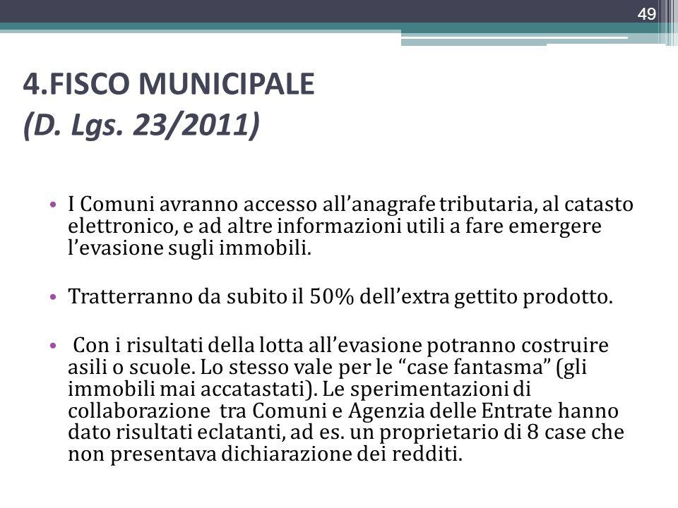 4.FISCO MUNICIPALE (D. Lgs. 23/2011)