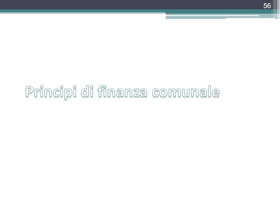 Principi di finanza comunale