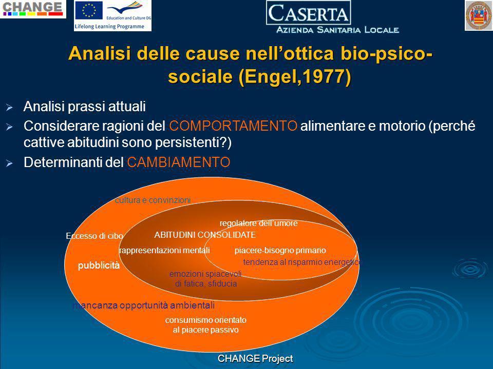 Analisi delle cause nell'ottica bio-psico-sociale (Engel,1977)