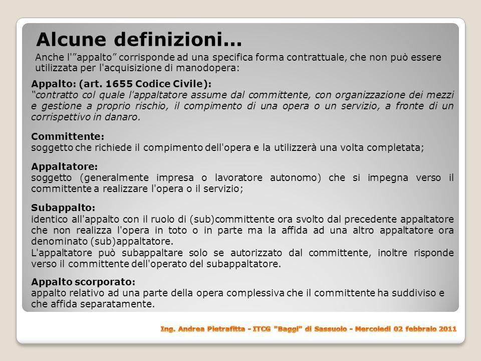 Alcune definizioni...