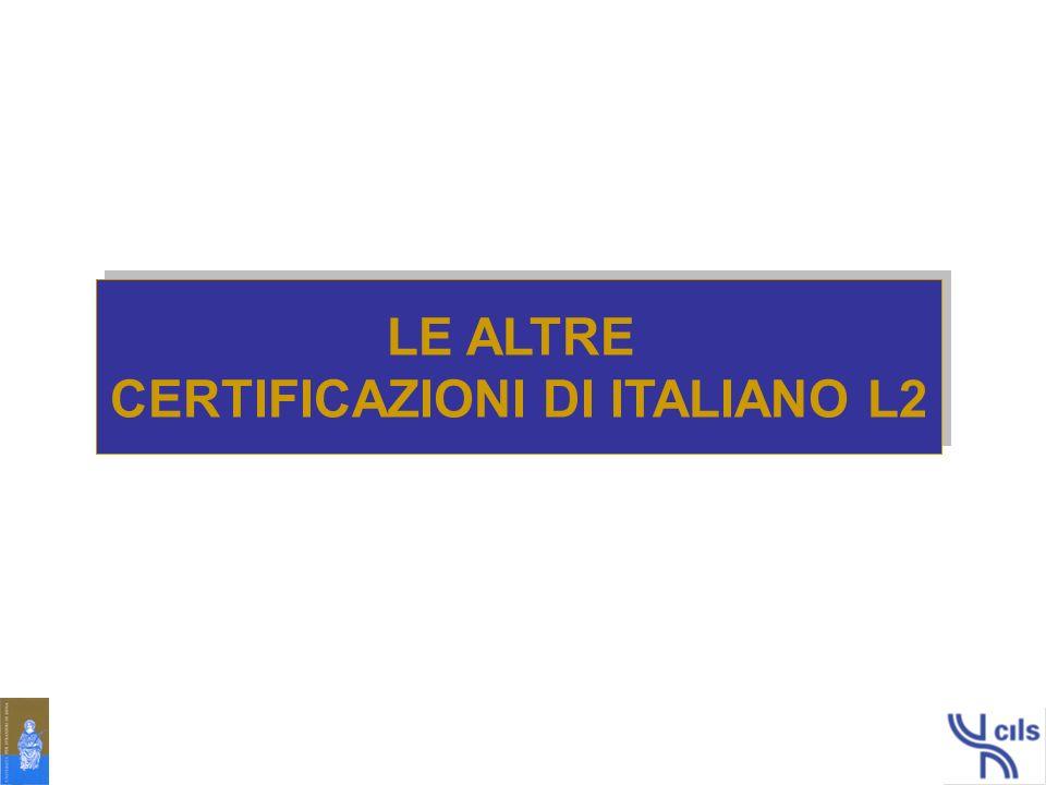 CERTIFICAZIONI DI ITALIANO L2