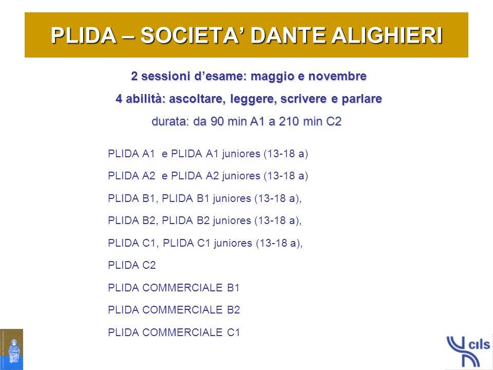 PLIDA – SOCIETA' DANTE ALIGHIERI