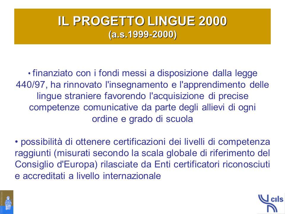 IL PROGETTO LINGUE 2000 (a.s.1999-2000)