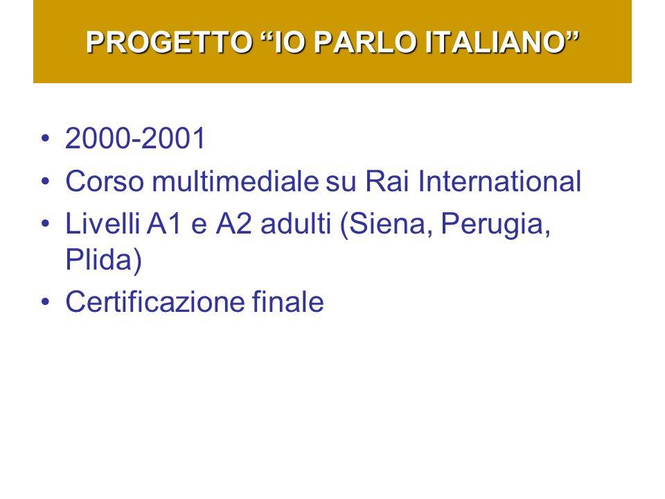 PROGETTO IO PARLO ITALIANO