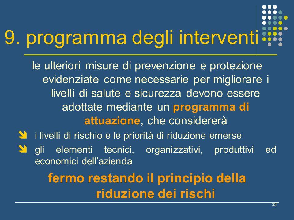9. programma degli interventi