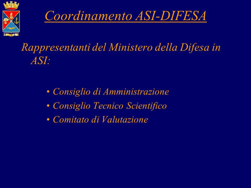 Coordinamento ASI-DIFESA