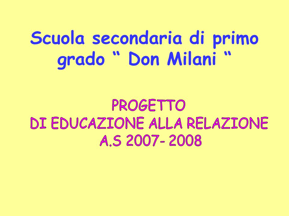 Scuola secondaria di primo grado Don Milani