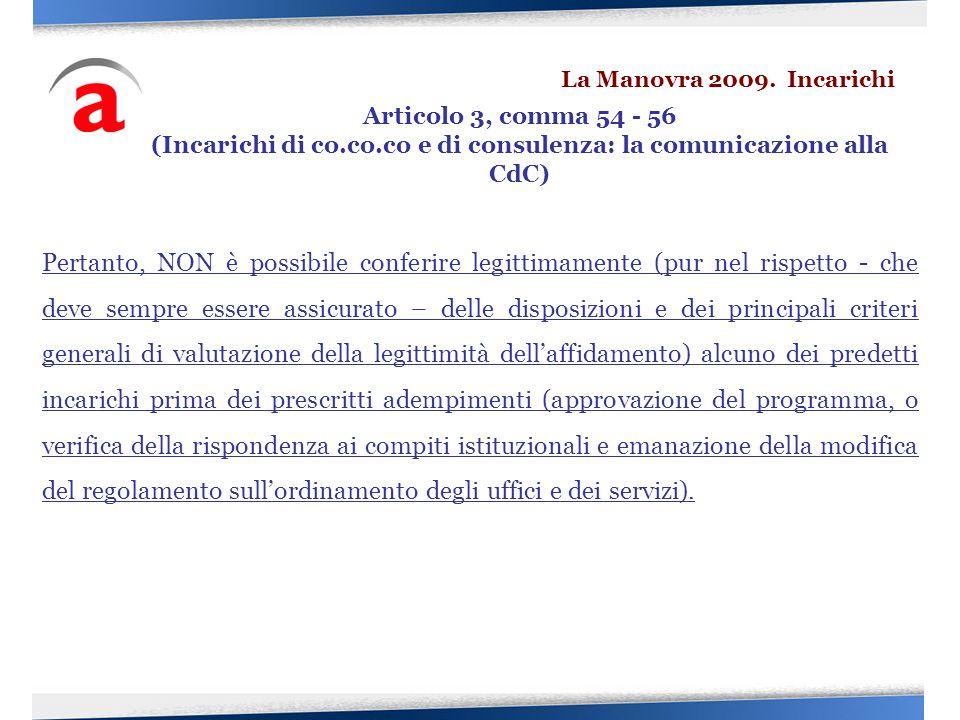 (Incarichi di co.co.co e di consulenza: la comunicazione alla CdC)