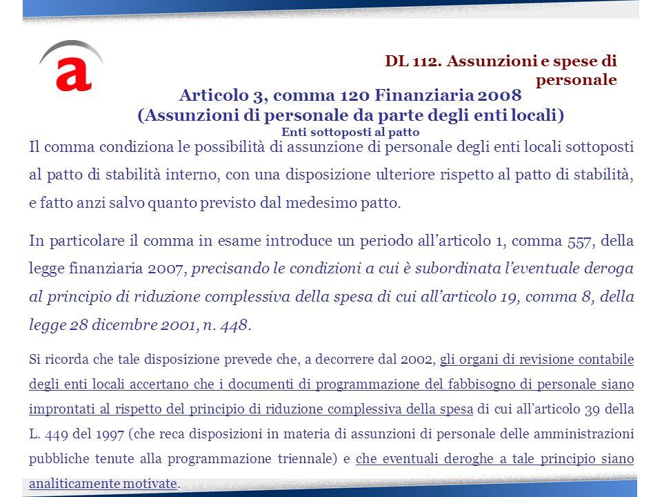 Articolo 3, comma 120 Finanziaria 2008