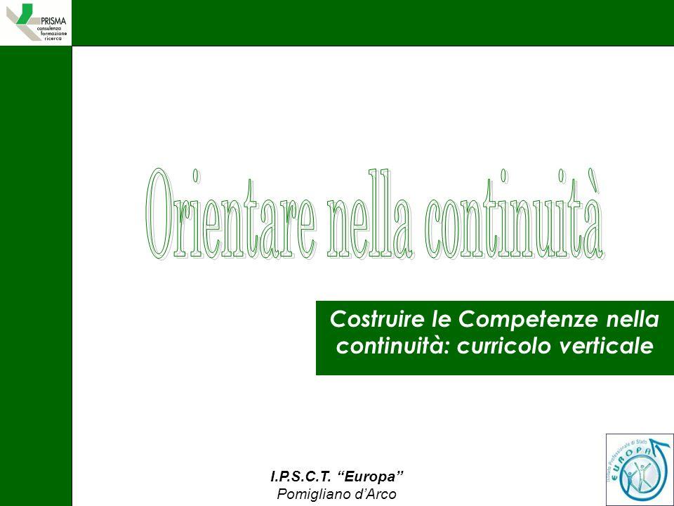 Costruire le Competenze nella continuità: curricolo verticale
