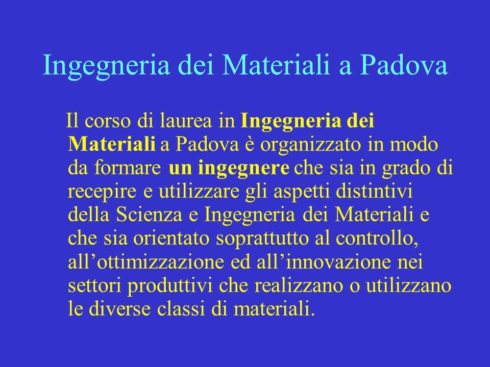 Ingegneria dei Materiali a Padova