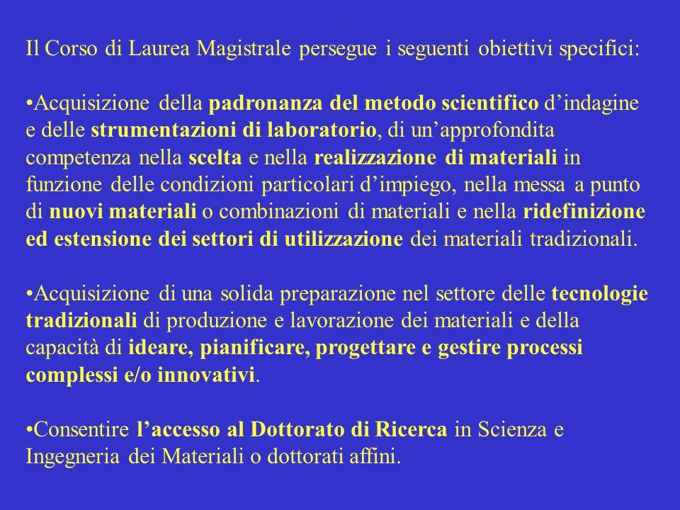 Il Corso di Laurea Magistrale persegue i seguenti obiettivi specifici:
