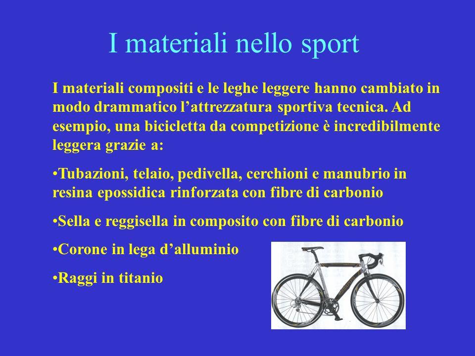 I materiali nello sport