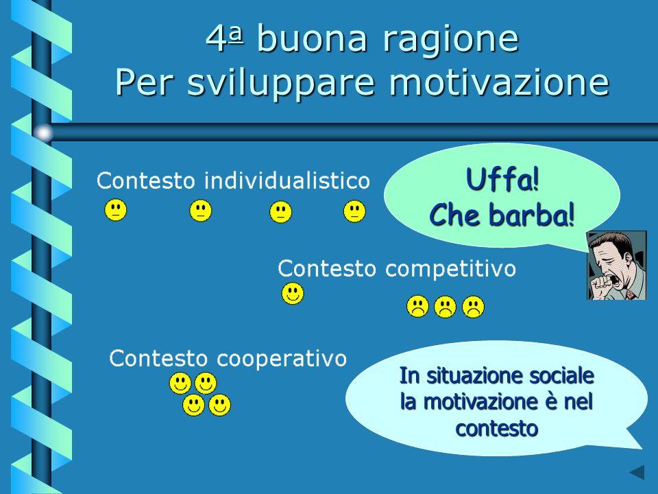 4a buona ragione Per sviluppare motivazione
