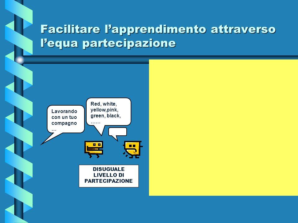 Facilitare l'apprendimento attraverso l'equa partecipazione