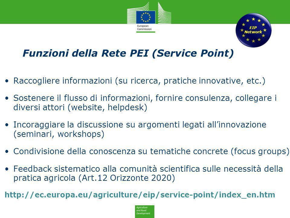 Funzioni della Rete PEI (Service Point)