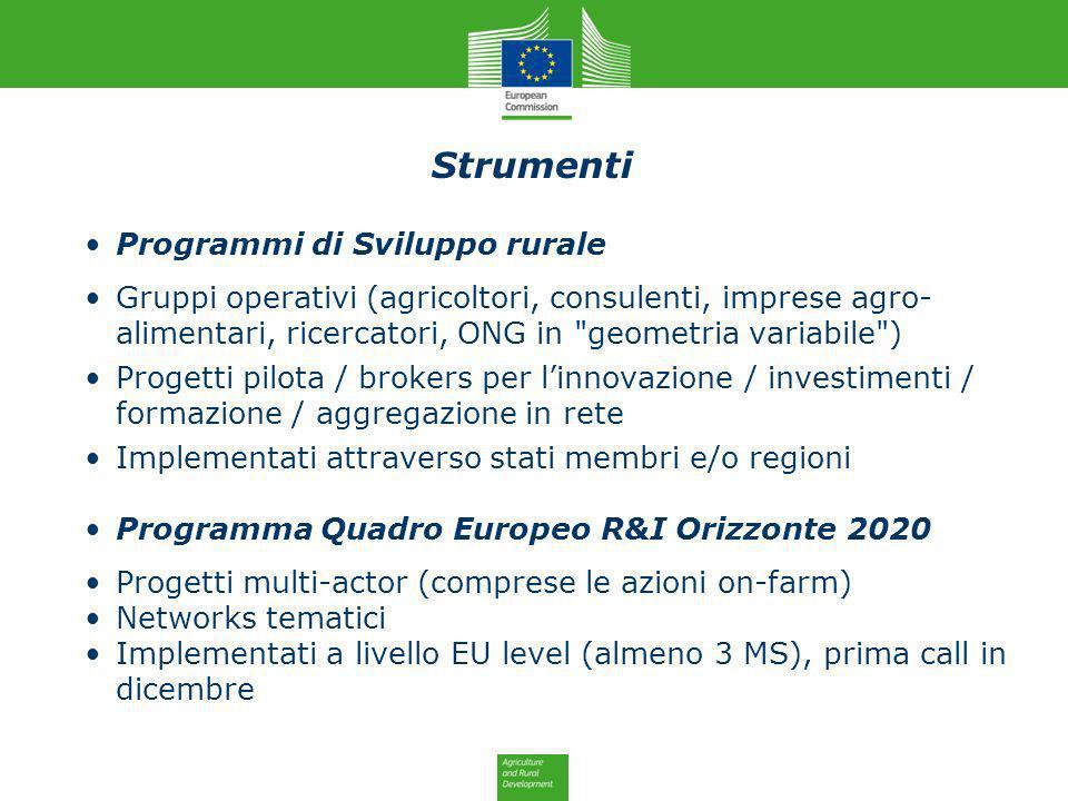 Strumenti Programmi di Sviluppo rurale