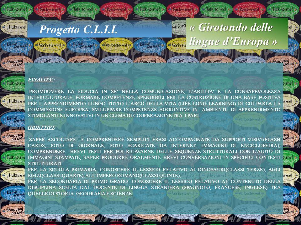 « Girotondo delle lingue d'Europa » Progetto C.L.I.L