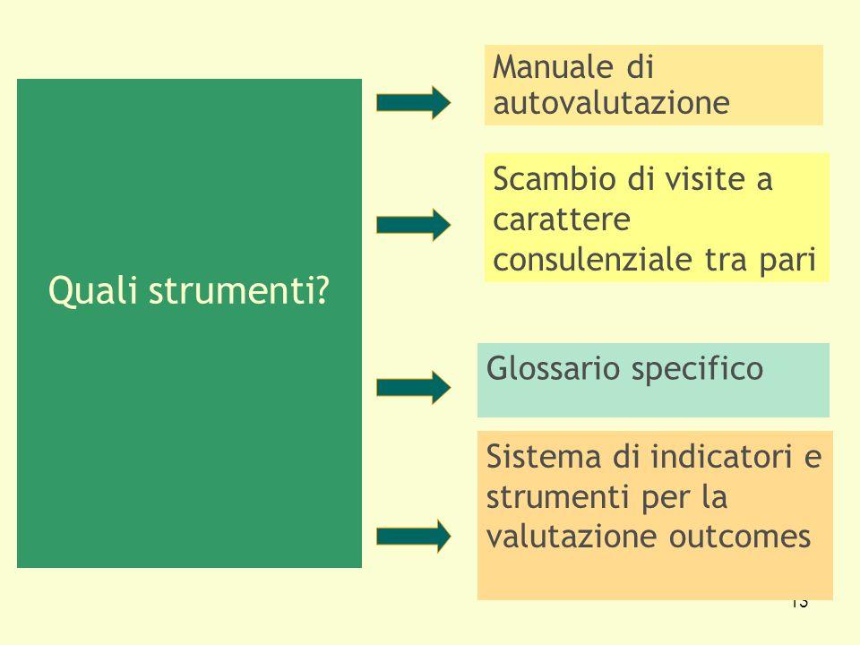 Quali strumenti Manuale di autovalutazione