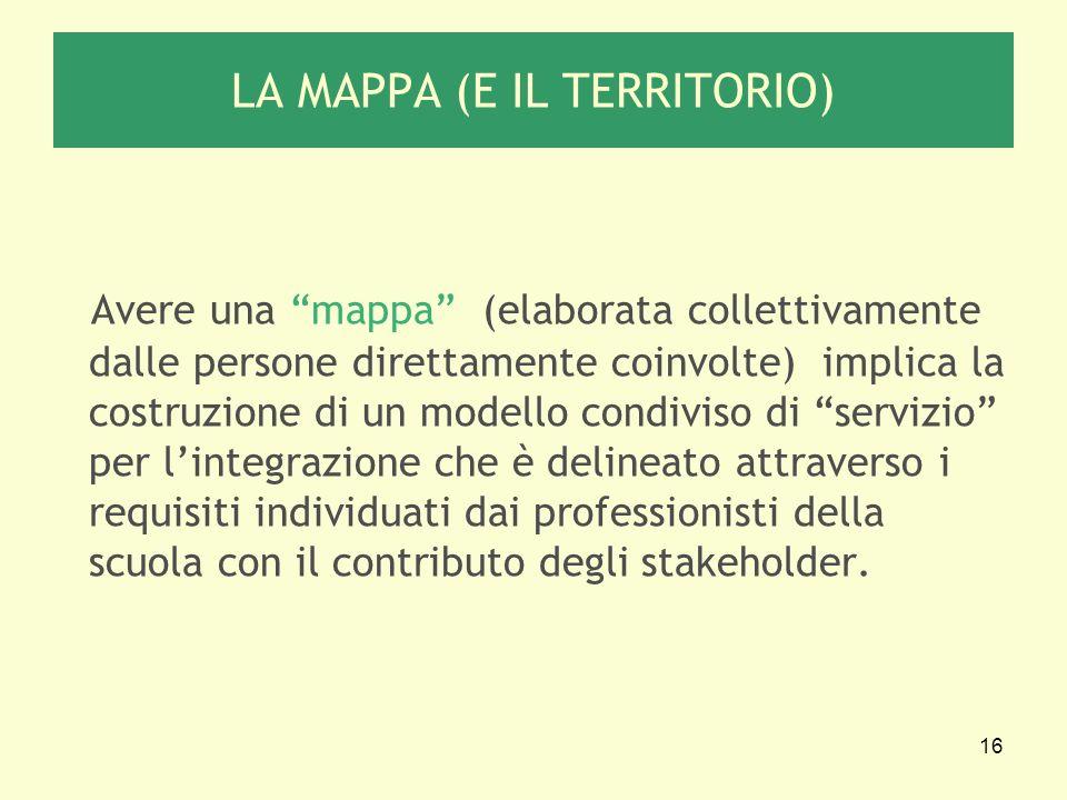 LA MAPPA (E IL TERRITORIO)