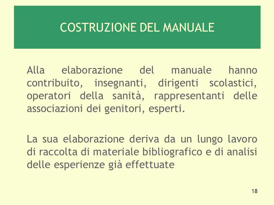 COSTRUZIONE DEL MANUALE