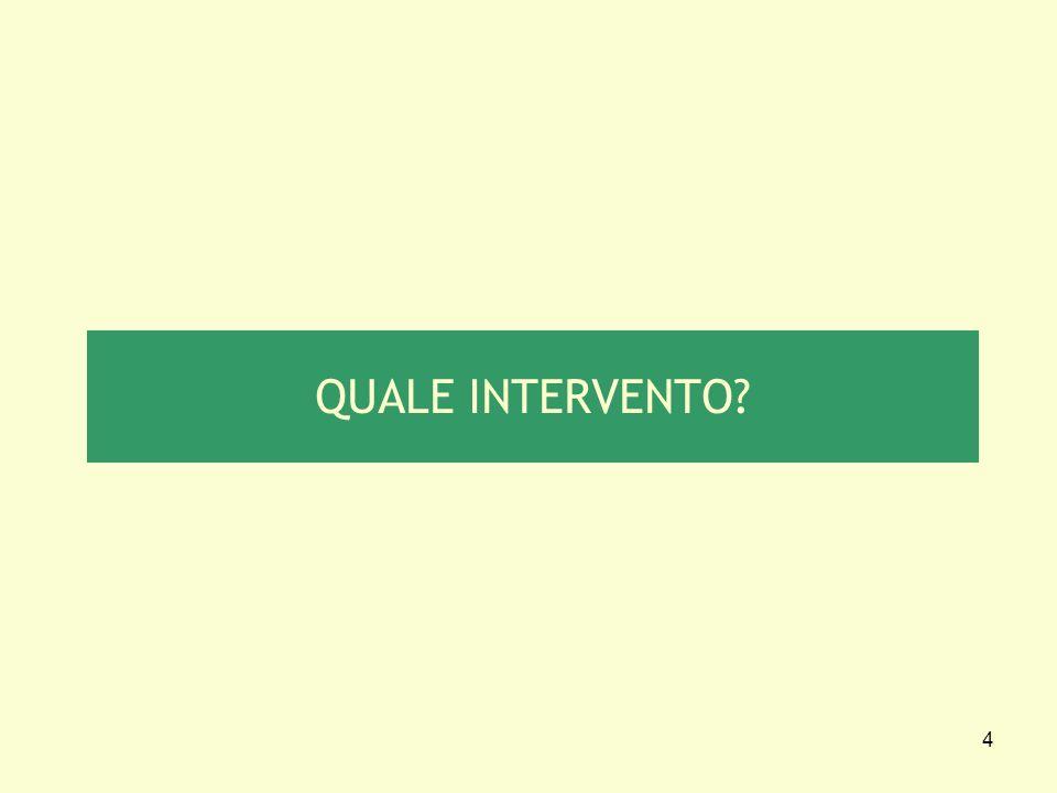QUALE INTERVENTO