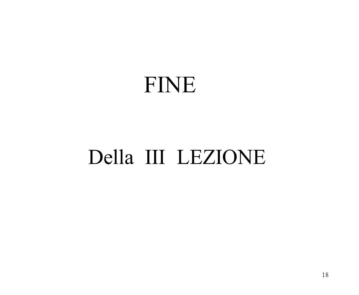 FINE Della III LEZIONE