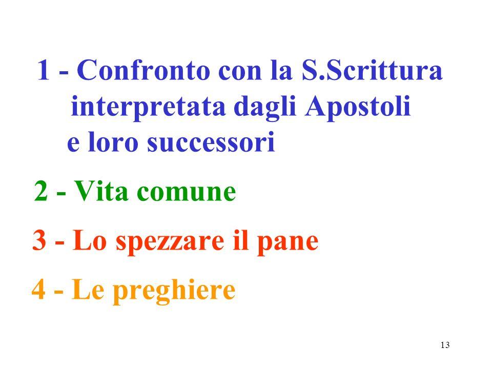 1 - Confronto con la S. Scrittura