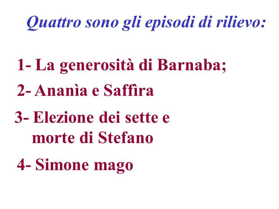 1- La generosità di Barnaba;