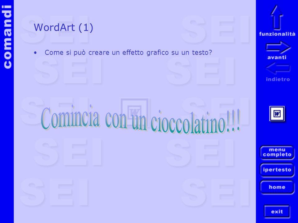 Comincia con un cioccolatino!!!