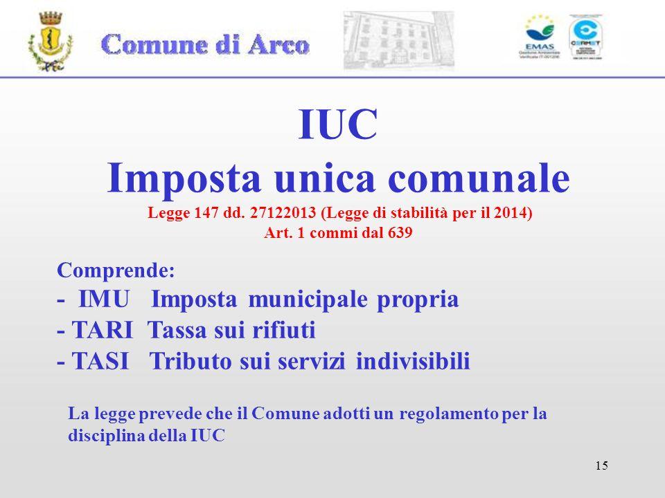 IUC Imposta unica comunale Legge 147 dd